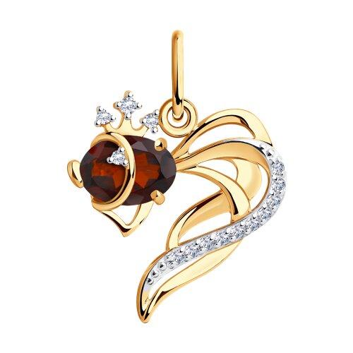 Кулон «Золотоя рыбка»