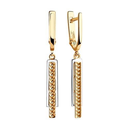 Серьги из золота с алмазной гранью (028649) - фото №2