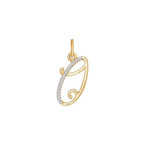 Подвеска-буква «О» из золота