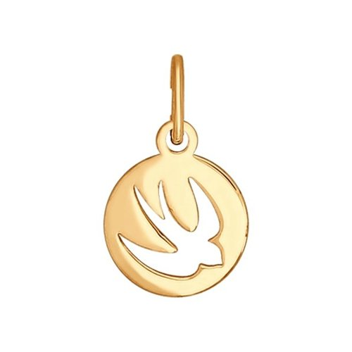 Подвеска «Ласточка» из золота (034674) - фото