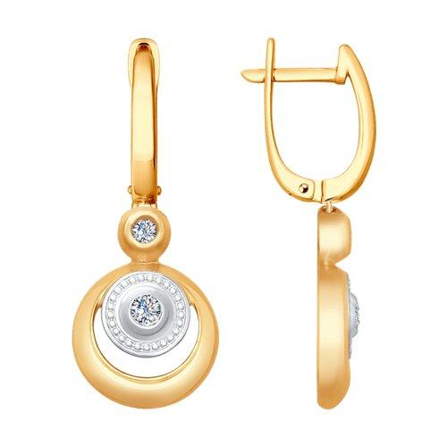 Серьги из золота с бриллиантами (1021203) - фото