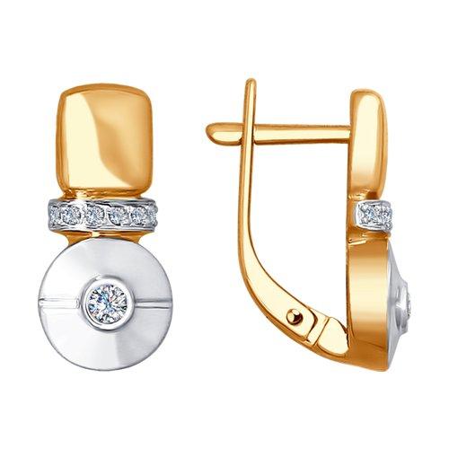 Серьги из золота с бриллиантами (1021159) - фото