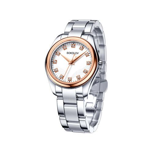 Женские часы из золота и стали (140.01.71.000.01.01.2) - фото