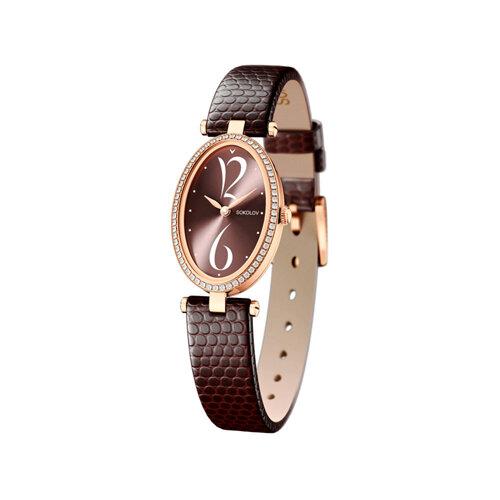 Женские золотые часы с бриллиантами (236.01.00.100.07.07.2) - фото