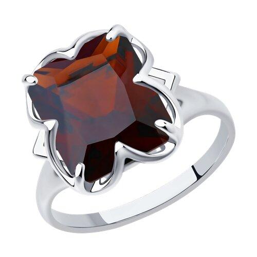 Кольцо из серебра с красным ситаллом