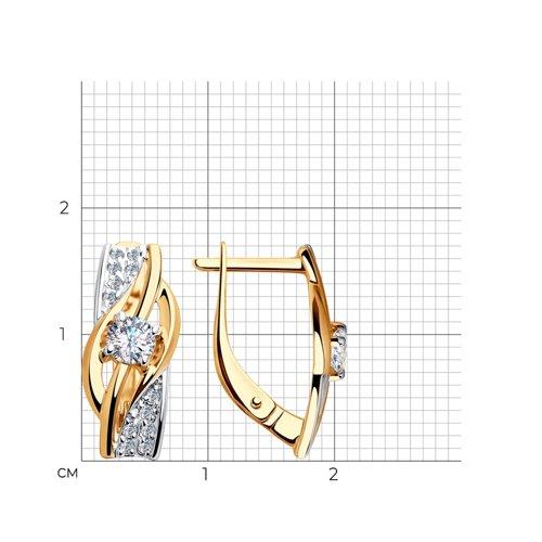 Серьги из золота с фианитами 028158 SOKOLOV фото 2