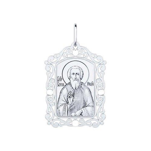 Иконка из серебра «Сергий Радонежский»  (94100232) - фото