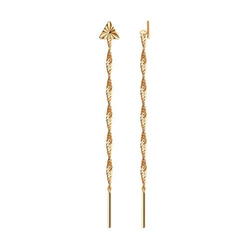 Серьги-цепочки из золота (020606) - фото