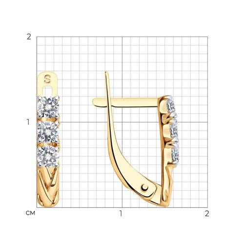 Серьги из золота с фианитами 027574 SOKOLOV фото 2