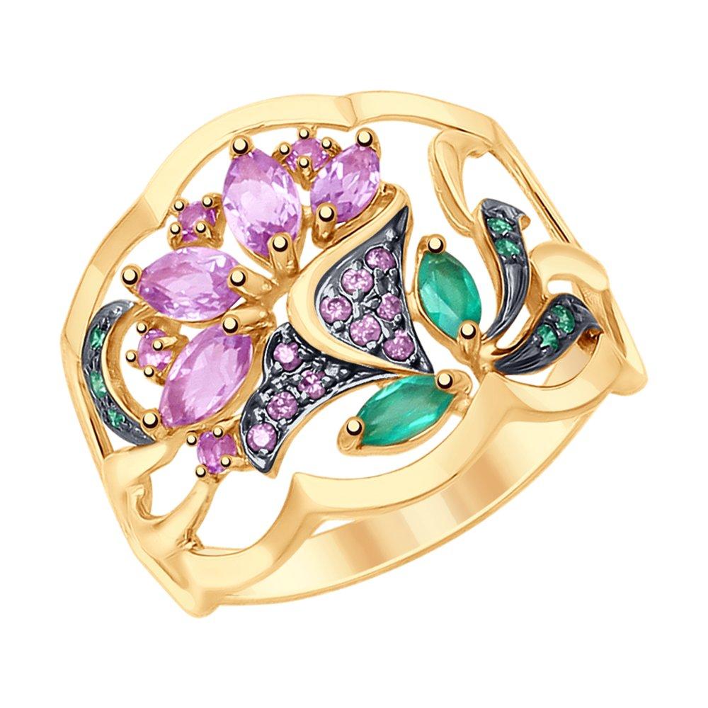 Кольцо SOKOLOV из золота с миксом камней кольцо из золота с миксом камней