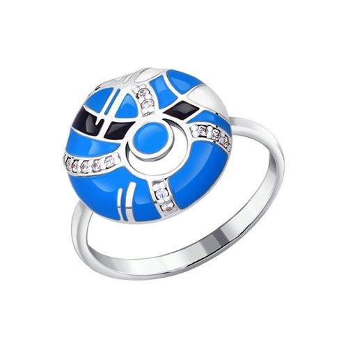Фото - Кольцо SOKOLOV из серебра с эмалью с фианитами кольцо с фианитами морская звезда sokolov