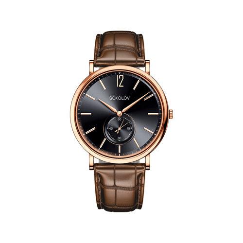 Мужские золотые часы (209.01.00.000.05.03.3) - фото №2