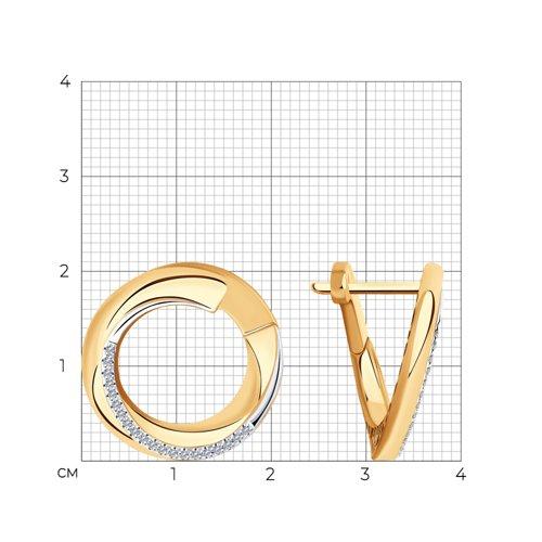 Серьги из золота с бриллиантами 1021531 SOKOLOV фото 2