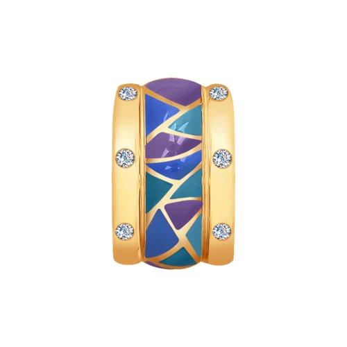 Подвеска из золота с эмалью и бриллиантами (1030682) - фото