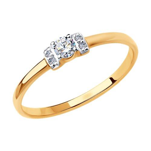 Кольцо из золота (018409) - фото