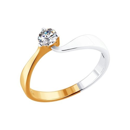 Золотое кольцо для помолвки с бриллиантом SOKOLOV