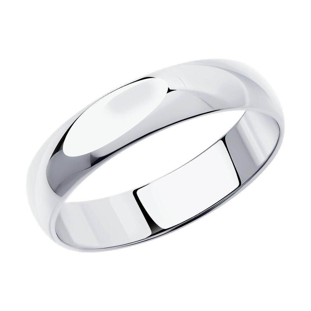 Гладкое обручальное кольцо SOKOLOV из серебра фото