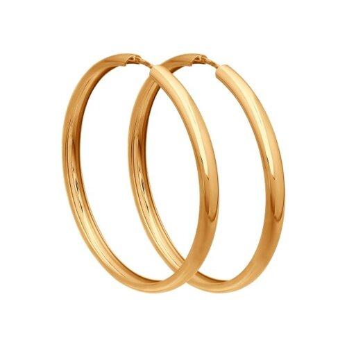 Серьги конго из золота (140018) - фото