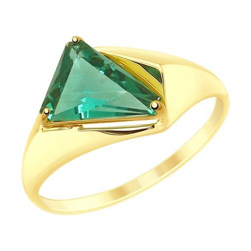 Кольцо из желтого золота с кварцем (715184-2) - фото