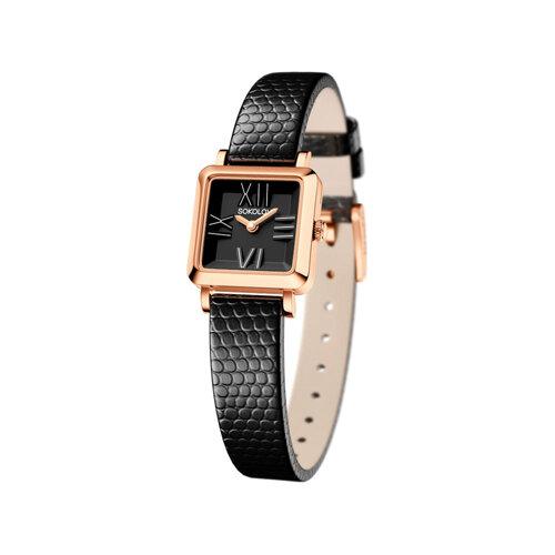 Женские золотые часы (231.01.00.000.02.01.2) - фото