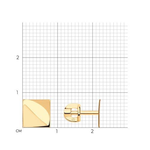 Серьги-пусеты из золота 026989 SOKOLOV фото 2