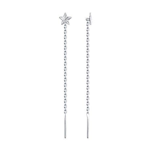 Серьги-цепочки из серебра (94021805) - фото