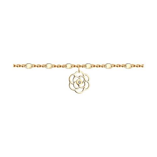 Браслет из золота с бриллиантом (1050116) - фото