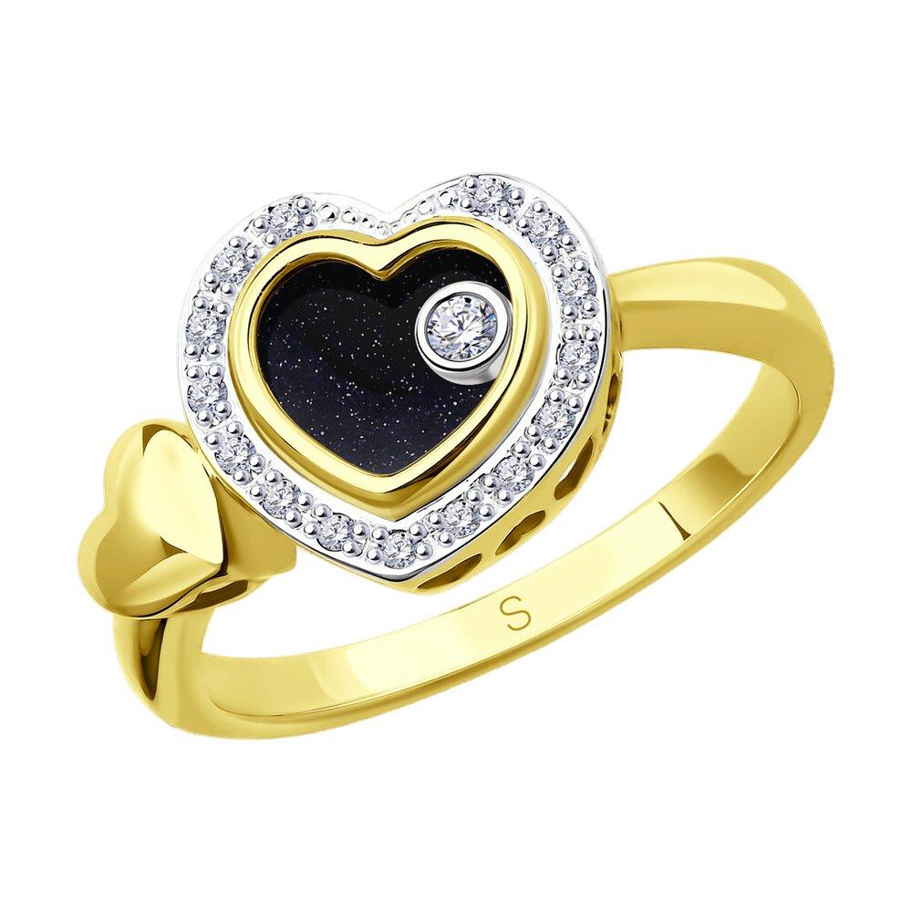 Кольцо SOKOLOV из комбинированного золота с миксом камней кольцо из золота с миксом камней