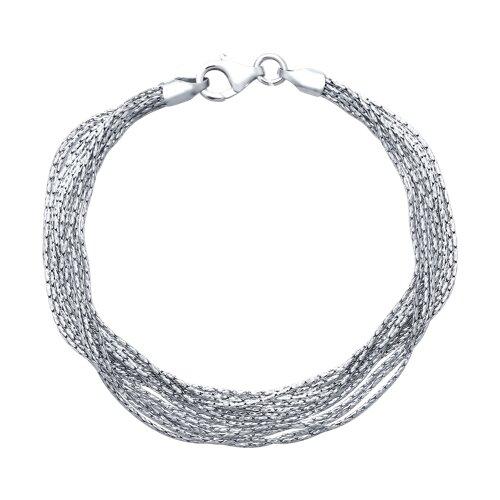 Серебряный многослойный браслет (94054539) - фото