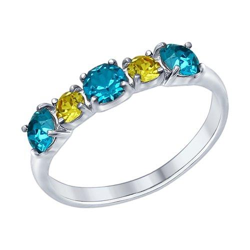 Cеребряное кольцо с кристаллами Swarovski (94012569) - фото
