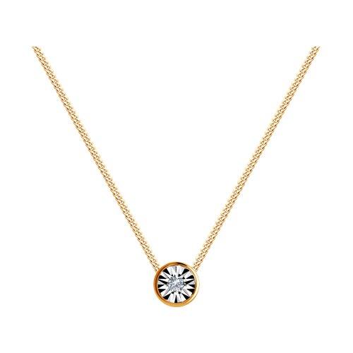 Колье из золота с бриллиантом 1070083 sokolov фото