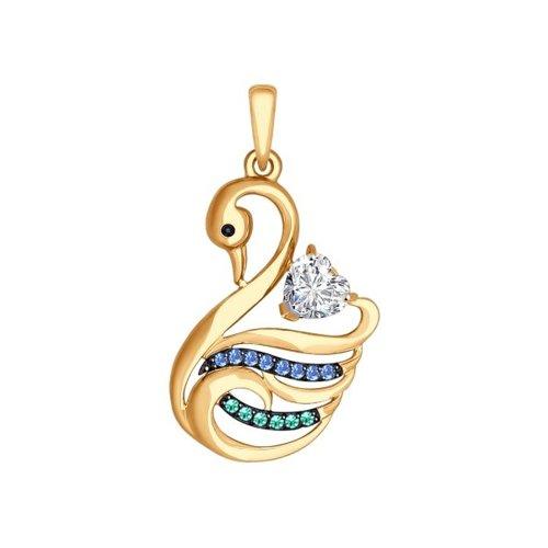 Подвеска «Лебедь» из золота