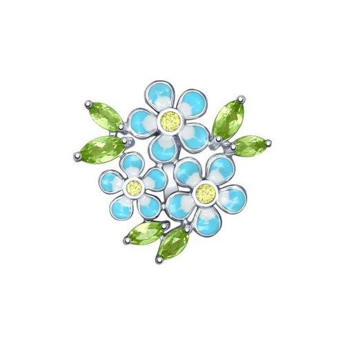 Подвеска «Цветы» с эмалью