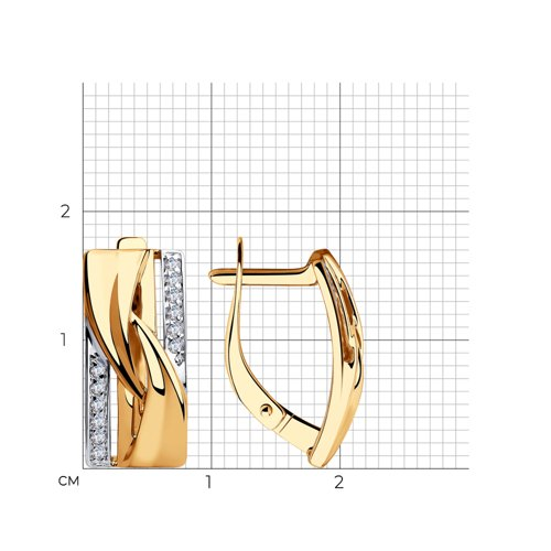 Серьги из золота с фианитами 028364 SOKOLOV фото 2