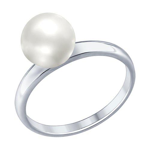 Кольцо из серебра с жемчугом