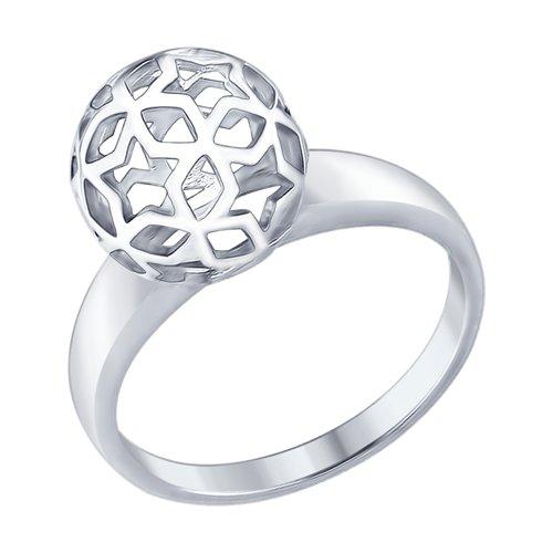 Кольцо из серебра (94012443) - фото