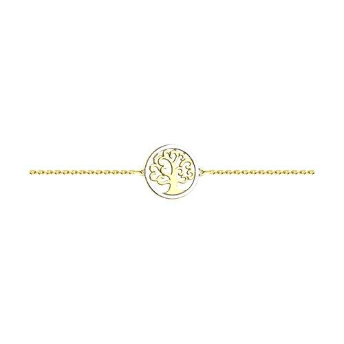 Браслет из желтого золота (051040-2) - фото