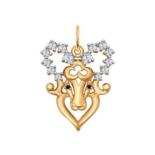 Золотая подвеска «Знак зодиака Овен»