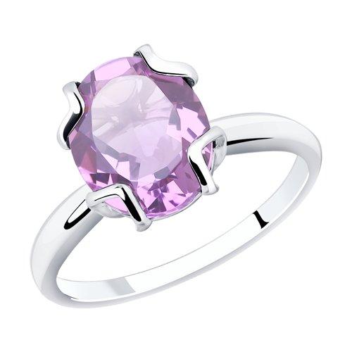 Кольцо из серебра с аметистом (92011777) - фото