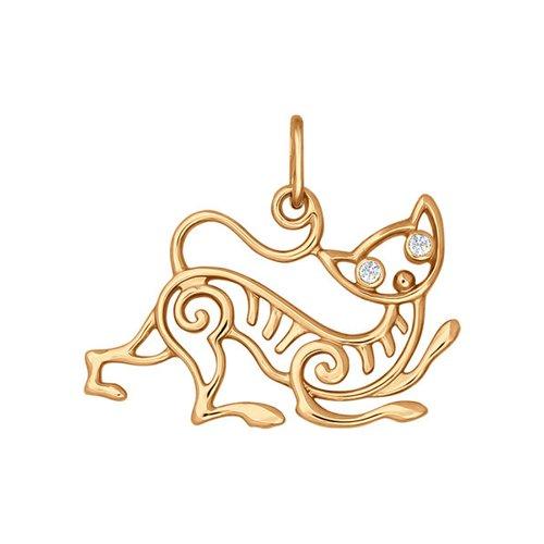 Подвеска из золота с фианитами