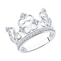Кольцо «Корона» из белого золота