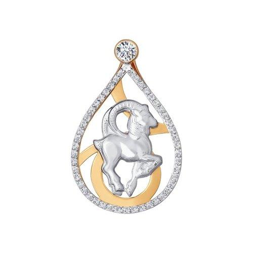 Подвеска «Знак зодиака Козерог» с фианитами