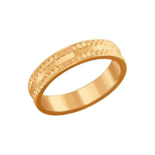 Позолоченное кольцо с алмазной гранью SOKOLOV