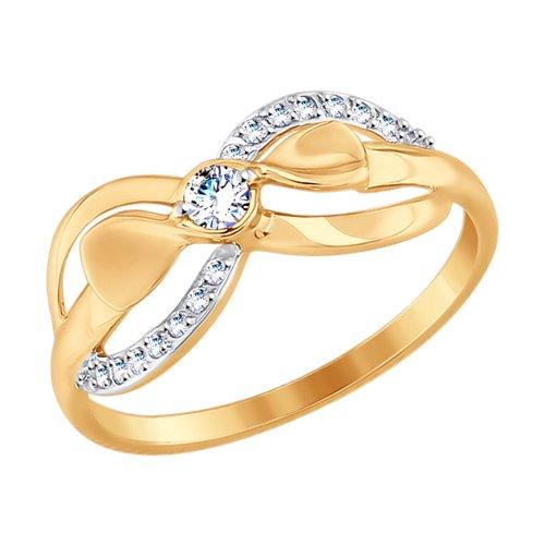 Кольцо из золота (017666) - фото