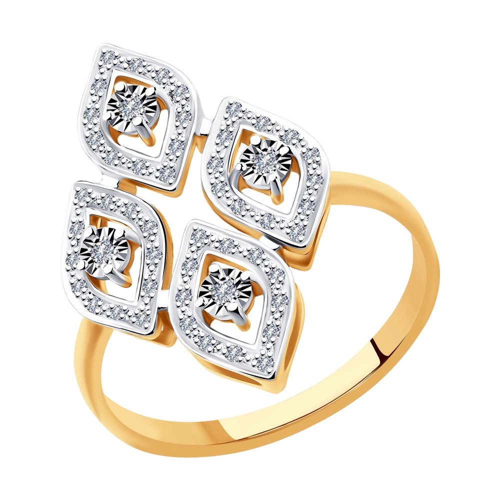 Кольцо SOKOLOV из комбинированного золота с бриллиантами фото