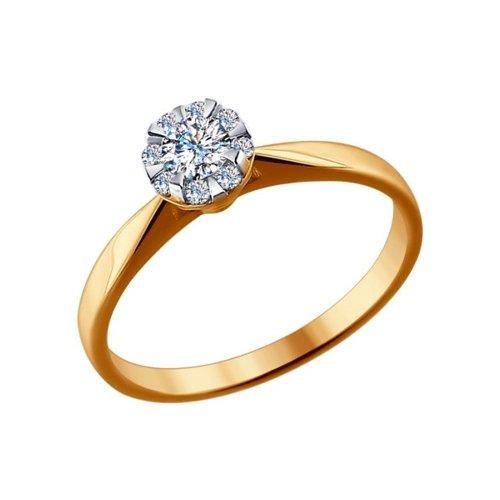 Помолвочное кольцо из золота с бриллиантами 1011446 sokolov фото