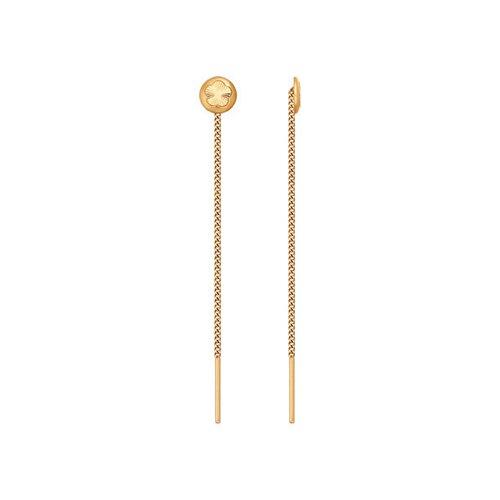 Серьги-цепочки из золота с алмазной гранью цена