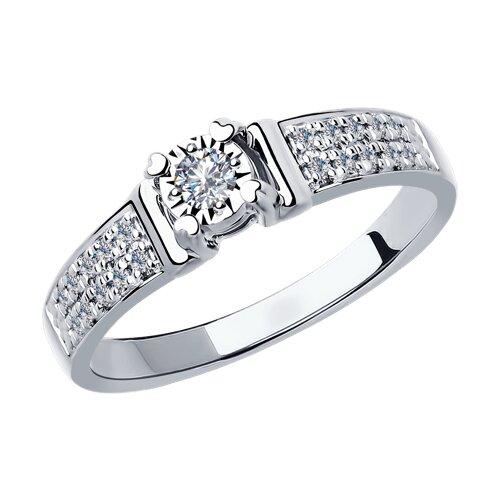 Кольцо SOKOLOV из белого золота с бриллиантами