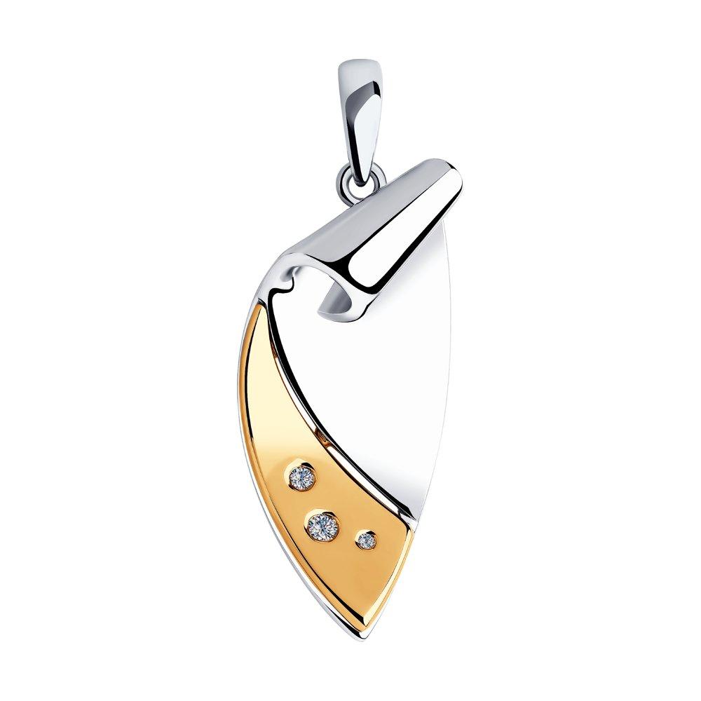 Подвеска SOKOLOV из золота и серебра с бриллиантами