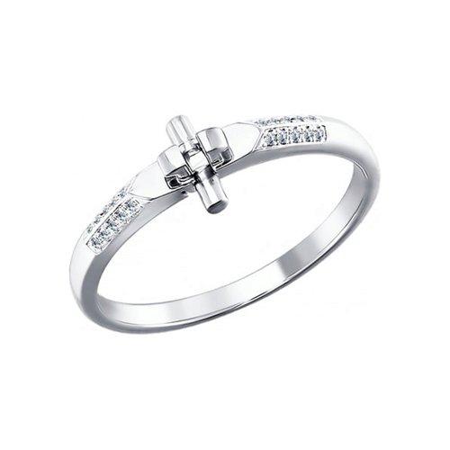 Кольцо-трансформер SOKOLOV из белого золота с бриллиантами мастер бриллиант кольцо с 32 бриллиантами из белого золота 1 104 867 размер 15 5